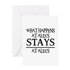 STAYS AT ALEX'S Greeting Card