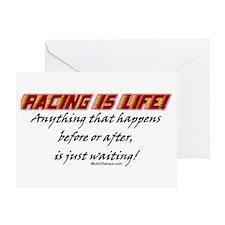 """Racing Is Life!"" Greeting Card"