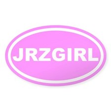 JRZ GIRL Jersey Girl Pink Euro Oval Decal
