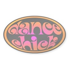 Dance Chick Oval Decal