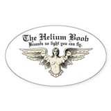 Helium Boob Flight Oval Decal