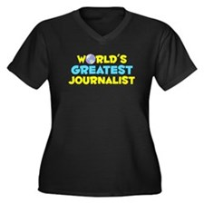 World's Greatest Journ.. (C) Women's Plus Size V-N