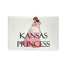 Kansas Princess Rectangle Magnet