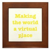 Virtual World Framed Tile