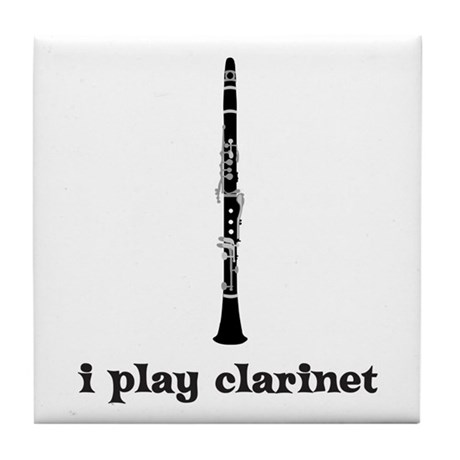 I Play Clarinet Tile Coaster