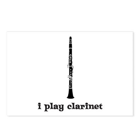 I Play Clarinet Postcards (Package of 8)
