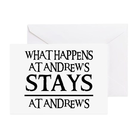 STAYS AT ANDREW'S Greeting Cards (Pk of 20)