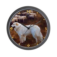 "Great Pyrenees Wall Clock ""FlockGuard"""