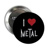 "I Love Metal 2.25"" Button"