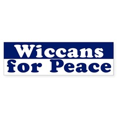 Wiccans for Peace (bumper sticker)