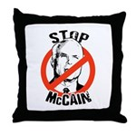 Stop McCain Throw Pillow