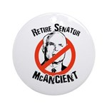 Retire Senator McAncient Ornament (Round)