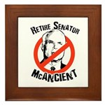 Retire Senator McAncient Framed Tile