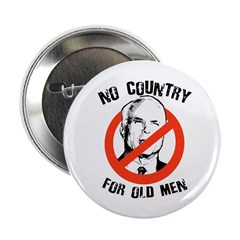 "Anti-Mccain / No Country for Old Men 2.25"" Button"