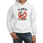 Anti-Mccain / No Country for Old Men Hooded Sweats