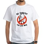 Anti-Mccain / No Country for Old Men White T-Shirt