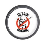 Anti-Mccain / Detain McCain Wall Clock