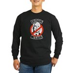 Anti-Mccain / Detain McCain Long Sleeve Dark T-Shi