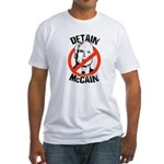 Anti-Mccain / Detain McCain Fitted T-Shirt