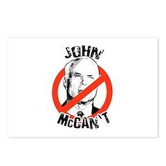 Anti-Mccain / John McCan't Postcards (Package of 8