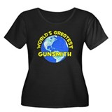 World's Greatest Gunsm.. (D) Women's Plus Size Sco