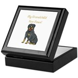 My Grandchild Is A Rottweiler Keepsake Box