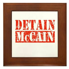 Detain McCain Framed Tile
