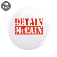 "Detain McCain 3.5"" Button (10 pack)"