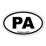 PA Pennsylvania Euro Oval Decal
