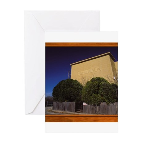 Weatherford Drive In Theater Greeting Card