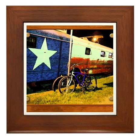 Texas Train Framed Tile