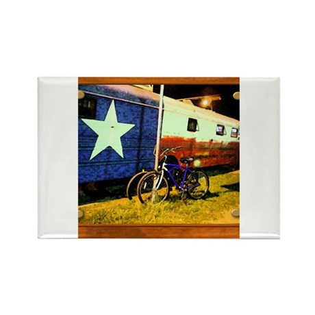 Texas Train Rectangle Magnet