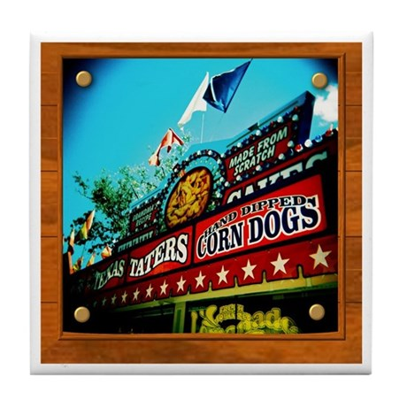 Texas Taters Tile Coaster