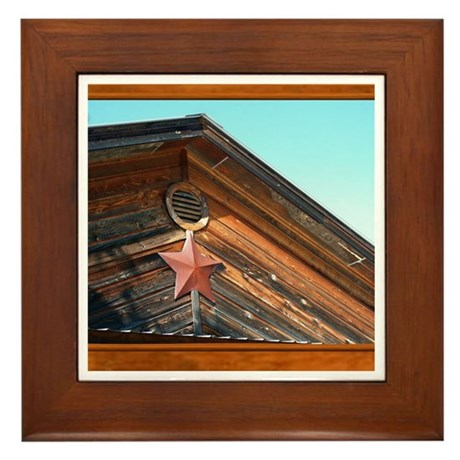 Texas Star #1 Framed Tile