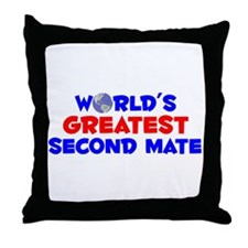 World's Greatest Secon.. (A) Throw Pillow