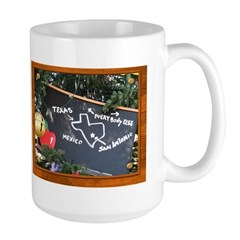 Texas, Mexico, Everybody Else Large Mug