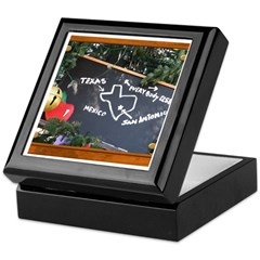 Texas, Mexico, Everybody Else Keepsake Box