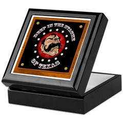 Texas Mustache Keepsake Box