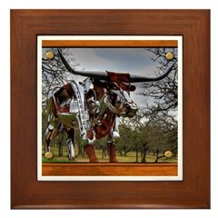 Longhorn Robo Framed Tile