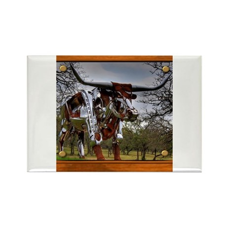 Longhorn Robo Rectangle Magnet