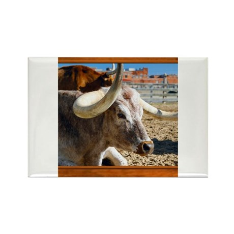 Longhorn #7 Rectangle Magnet