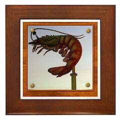 Jumbo Shrimp! Framed Tile