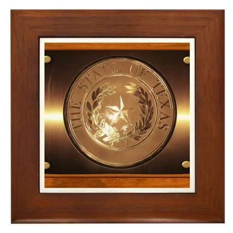 Great Seal of Texas Framed Tile