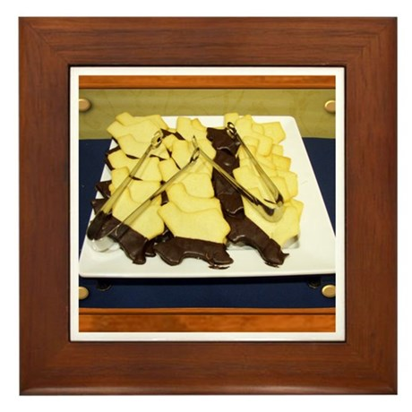 Texas Cookies Framed Tile