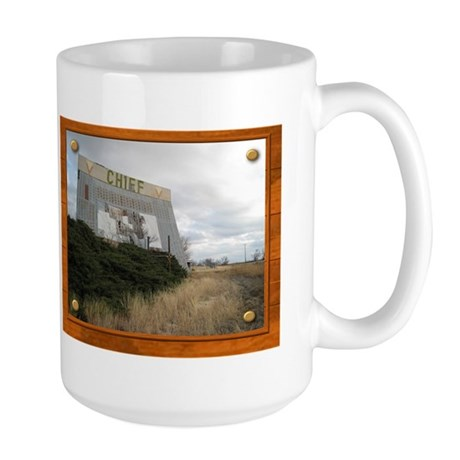 The Chief Drive In Theater Large Mug