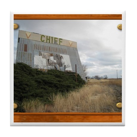 The Chief Drive In Theater Tile Coaster