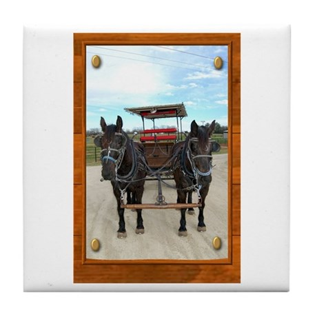 Texas Buggy Tile Coaster