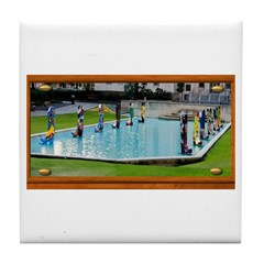 Boots on the Water Tile Coaster