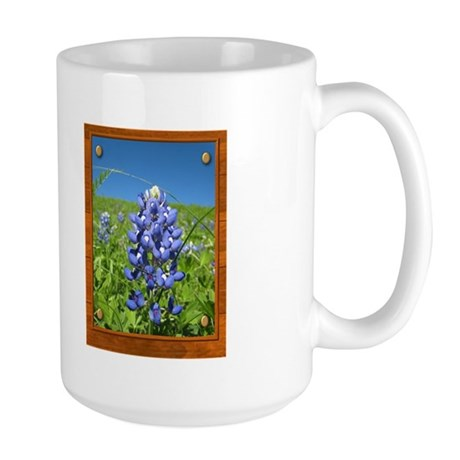 Blue Bonnets Large Mug
