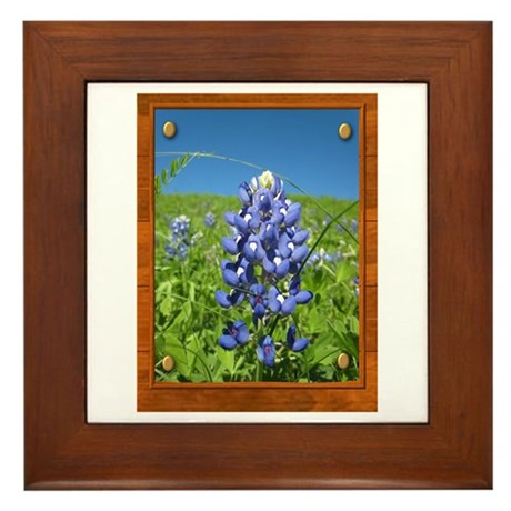Blue Bonnets Framed Tile